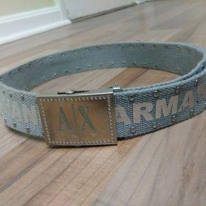 Armani Exchange Studded Logo Belt